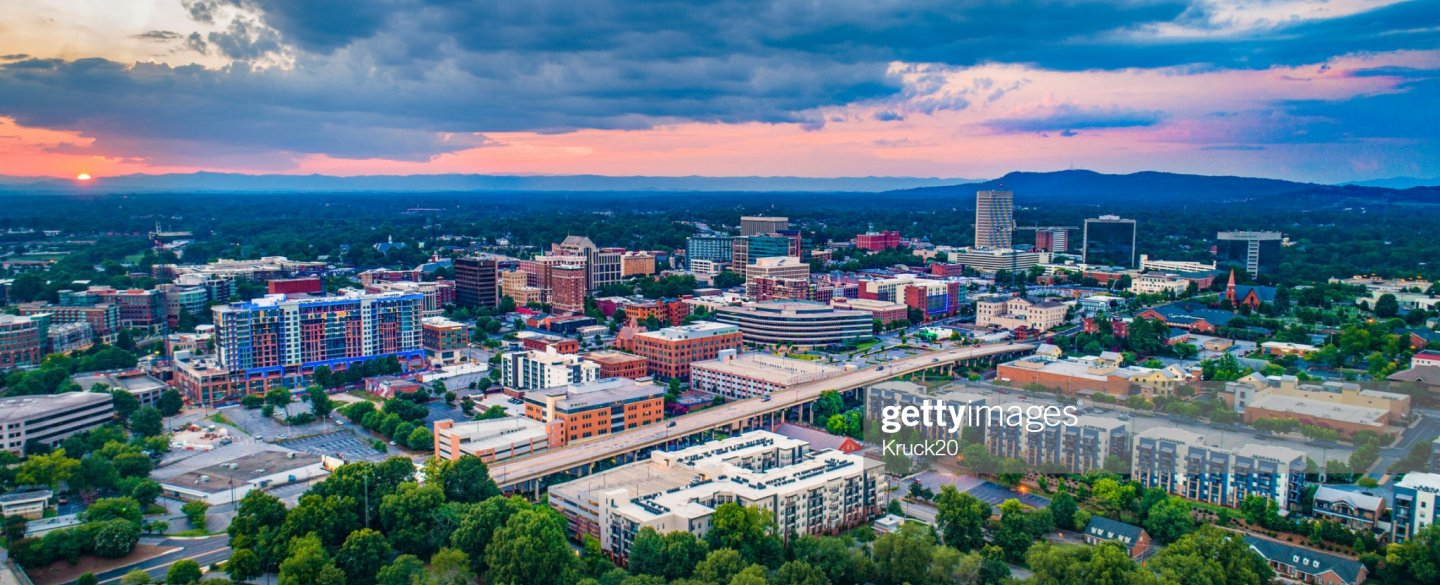 Aerial Photo Greenville SC